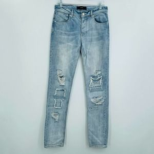 Stampd destroyed blowout knee jeans